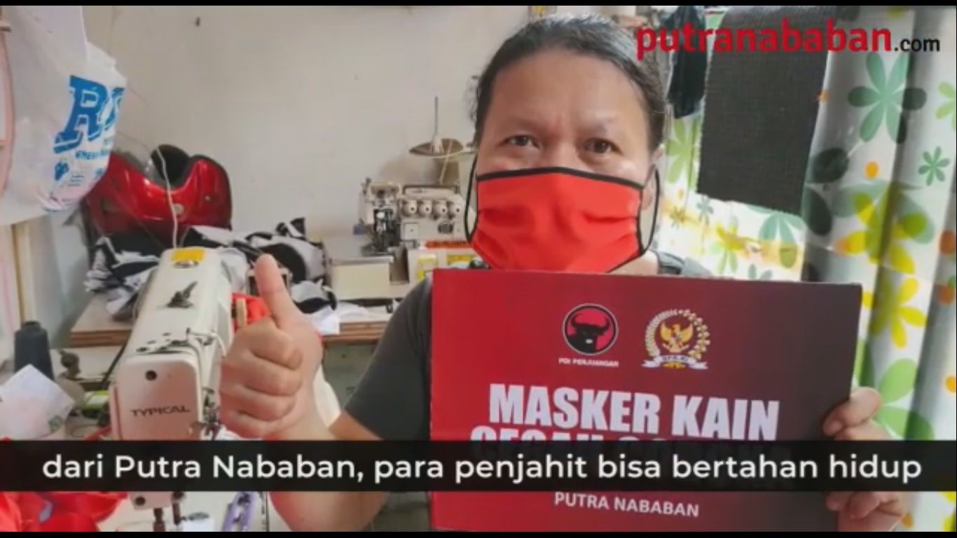 Berdayakan UKM, Putra Nababan Gotong Royong Membuat Masker Kain