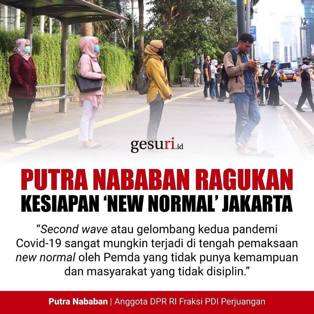 Putra Nababan Meragukan Kesiapan 'New Normal' Jakarta