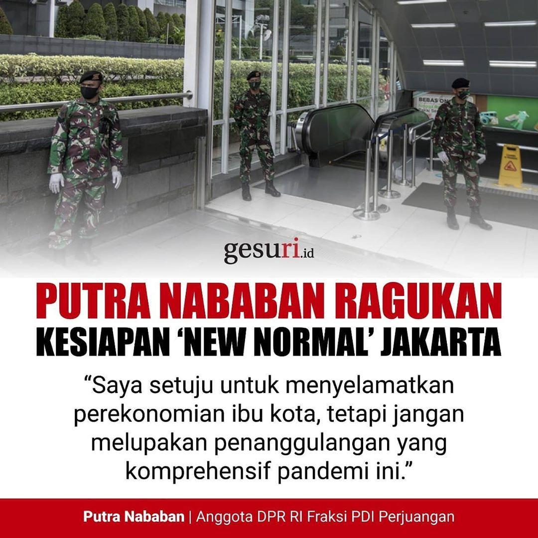 Putra Nababan Ragukan Kesiapan 'New Normal' di Jakarta