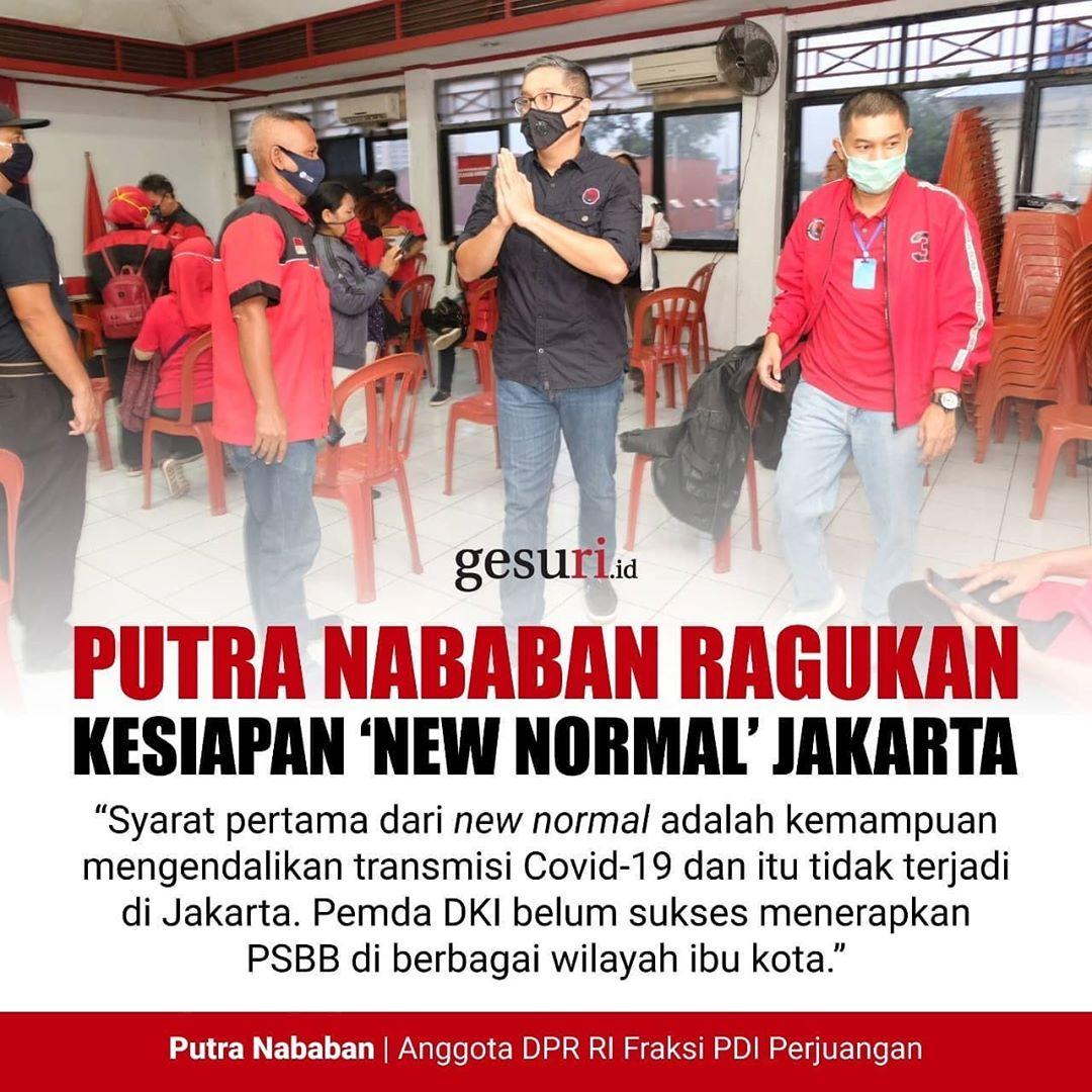 Putra Nababan Meragukan Kesiapan 'New Normal' di Jakarta