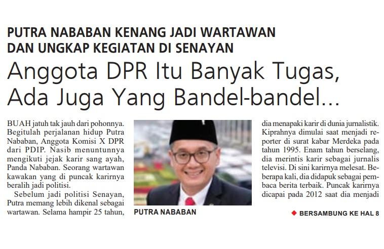 Putra Nababan Kenang Jadi Wartawan dan Ungkap Kegiatan di Senayan