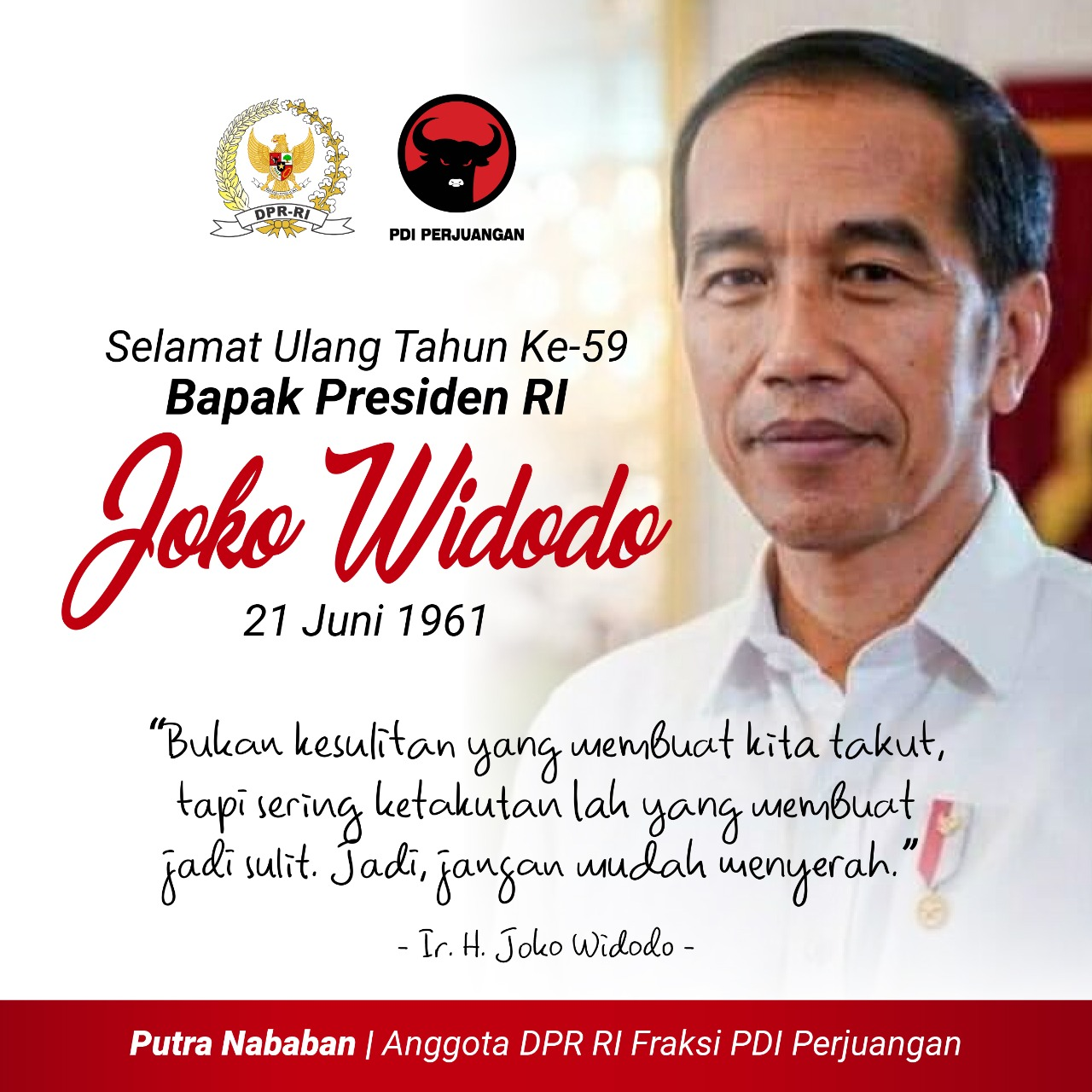 Ulang Tahun ke-59 Presiden RI Joko Widodo