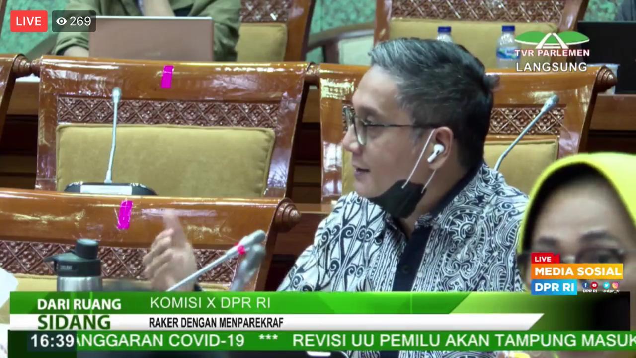 Raker Komisi X DPR RI dengan Menparekraf RI 3 Juli 2020