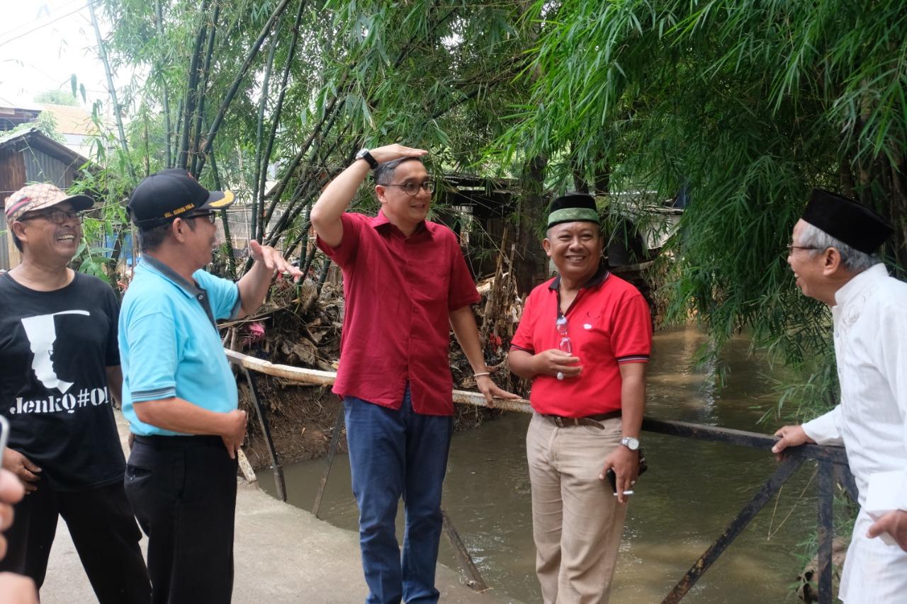 Putra Tinjau Wilayah Terdampak Banjir di Kebon Pala
