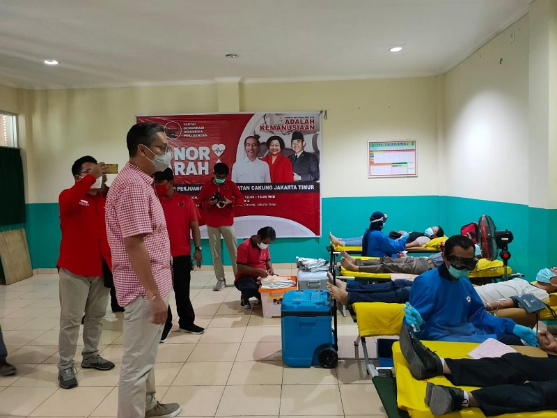 Putra Dukung Penuh Aksi Donor Darah PDI Perjuangan Jaktim & PMI