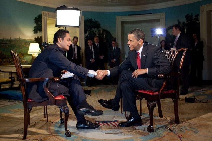 Putra Nababan Wawancara Obama