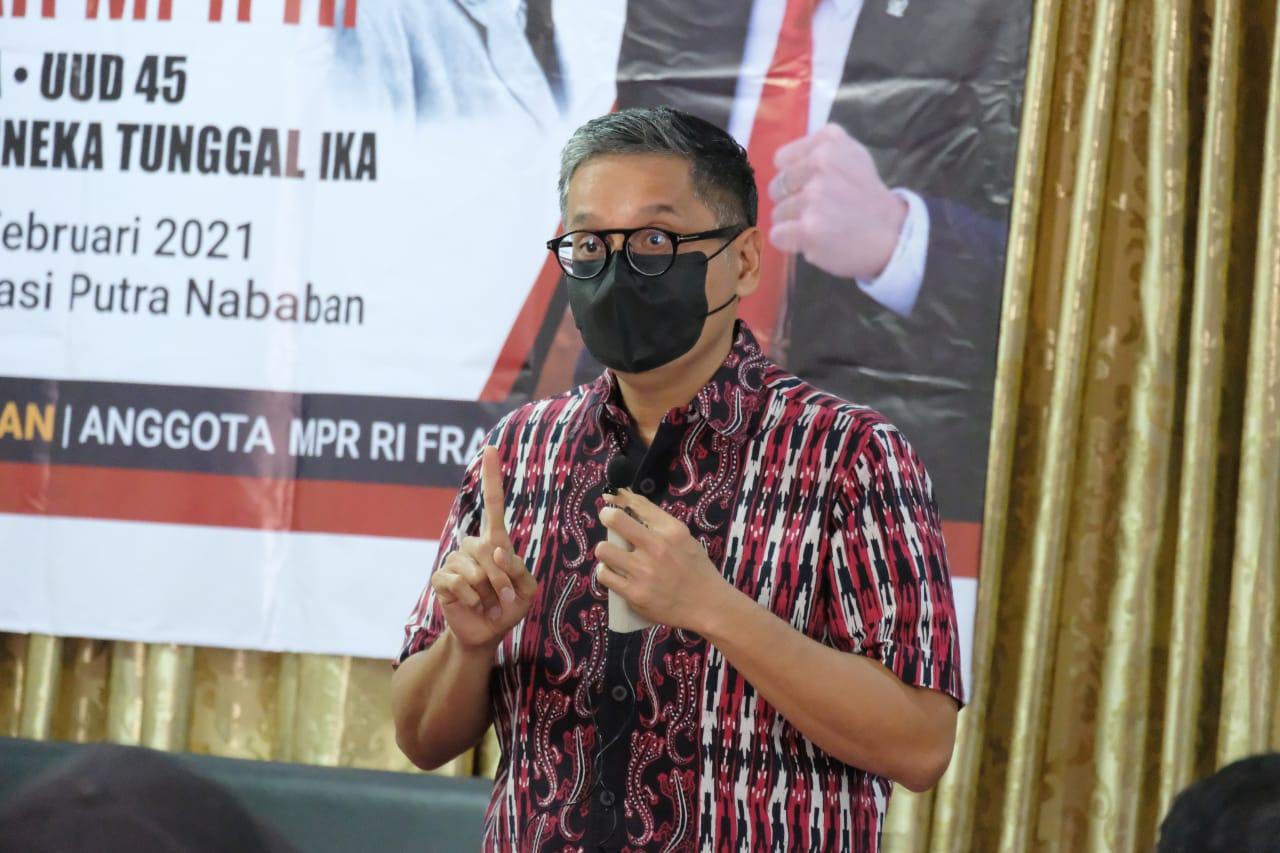 Sosialisasi 4 Pilar MPR RI di Rumah Aspirasi, 21 Februari 2021