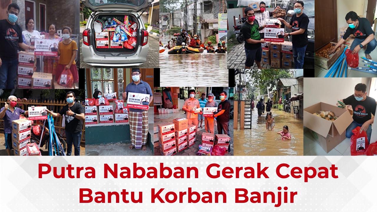 Putra Nababan Gerak Cepat Bantu Korban Banjir Jakarta Timur