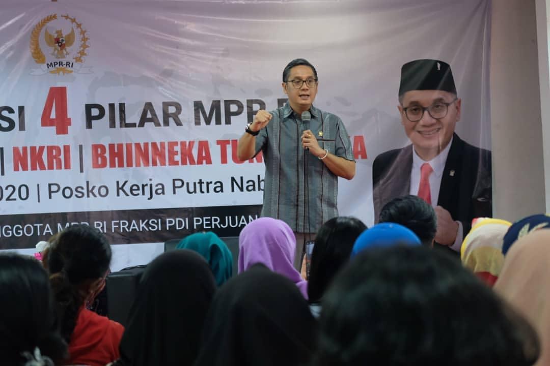 Sosialisasi 4 Pilar MPR RI di Posko Kerja Putra Nababan