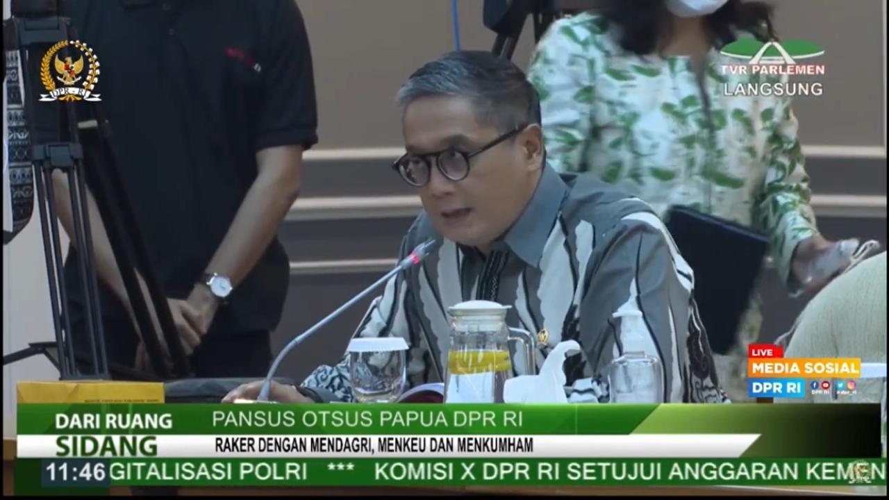 Rapat Pansus Otsus Papua DPR RI, 17 Juni 2021