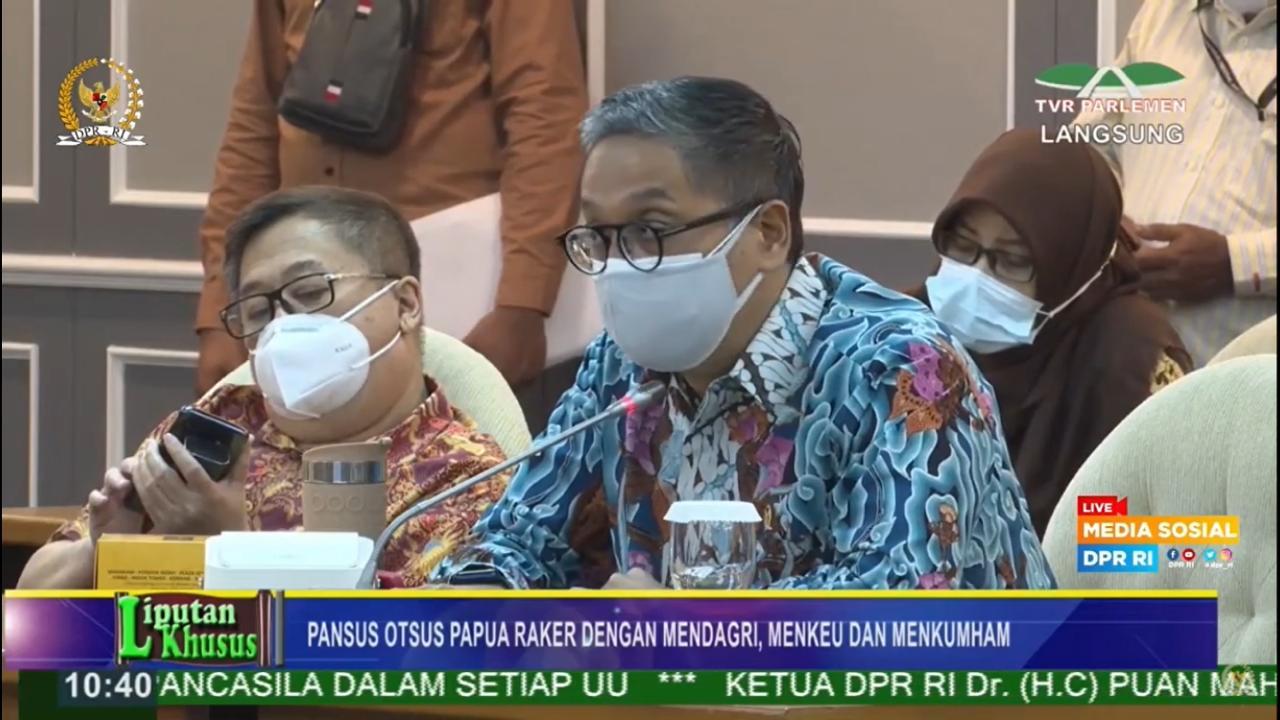 Rapat Pansus Otsus Papua DPR RI, 24 Juni 2021